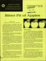 Bitter pit of apples