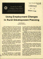 Using employment changes in rural development planning