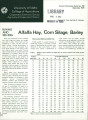 Buying and selling alfalfa hay, corn silage, barley