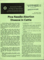 Pine needle abortion disease in cattle