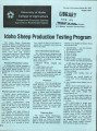 Idaho sheep production testing program