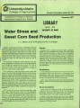 Water stress and sweet corn seed production