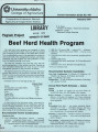 Pegram project: beef herd health program