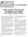 Tissue analyses for nitrogen fertilization of irrigated soft white winter wheat