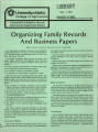 Organizing family records and business papers
