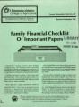 Family financial checklist of important papers