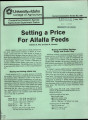 Setting a price for alfalfa feeds