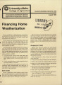 Financing home weatherization