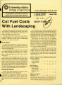 Cut fuel costs with landscaping