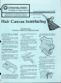 Hair canvas interfacing