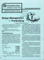 Sheep management: prelambing