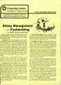 Sheep management: postlambing