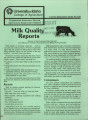 Milk quality reports