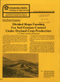 Five-point program: divided slope farming for soil erosion control under dryland crop production