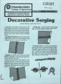 Decorative serging