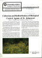 Collection and redistribution of biological control agents of St. Johnswort