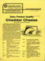 Dairy product quality: cheddar cheese