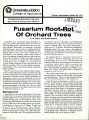 Fusarium root rot of orchard trees