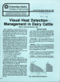 Visual heat detection management in dairy cattle