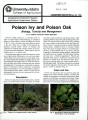 Poison ivy and poison oak: biology, toxicity and management