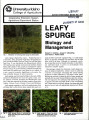 Leafy spurge: biology and management