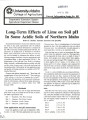 Long-term effects of lime on soil pH in some acidic soils of northern Idaho