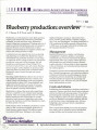 Blueberry production: overview