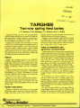 Targhee two row spring feed barley