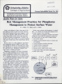 Best management practices for phosphorus management to protect surface water