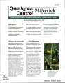Quackgrass control with Maverick & other herbicides in dryland wheat production systems in...