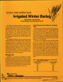 Southern Idaho fertilizer guide: irrigated winter barley