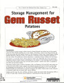 Storage management for Gem Russet potatoes
