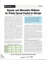 Organic and alternative methods for potato sprout control in storage