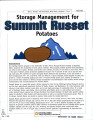 Storage management for Summit Russet potatoes