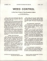 Weed Control in the Corn Crops of Southwestern Idaho
