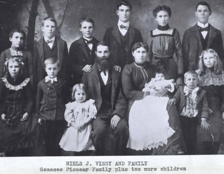 Genesee Pioneer Niels J. Visby and Family