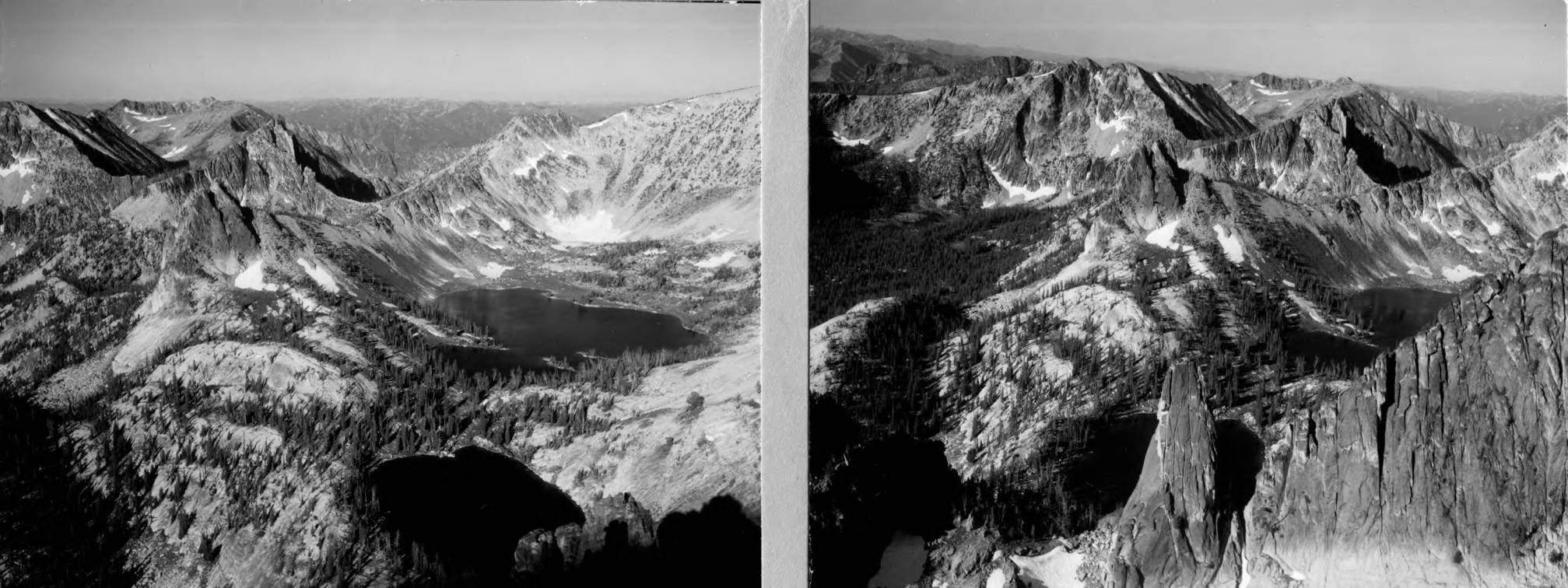 item thumbnail for Aerial view of Big Horn Crags across Wilson and Harbor Lakes