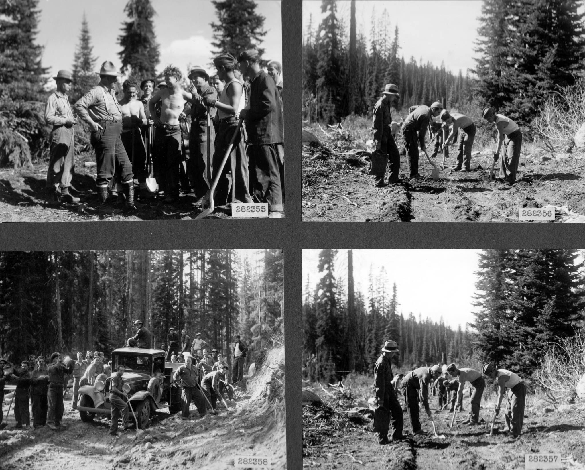 item thumbnail for CCC work scenes from Selway National Forest