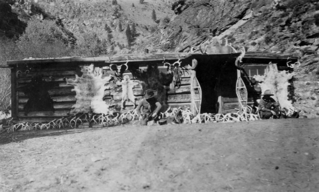 item thumbnail for Hacksaws cabin, at camp, above Shupe, Idaho