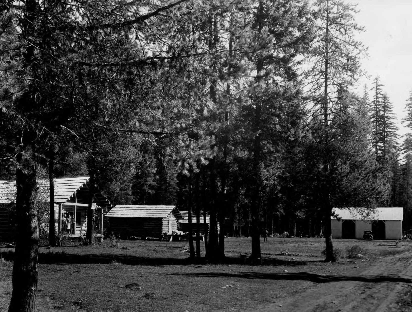 item thumbnail for Powell Ranger Station, driveway and buildings