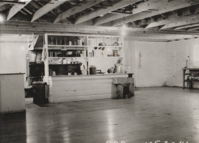 item thumbnail for Wallace Flood Camp, mess hall kitchen