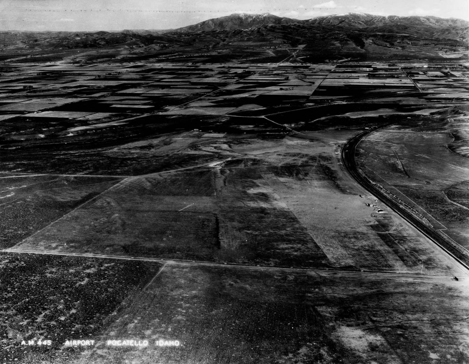 item thumbnail for Pocatello Municipal Airport or McDougall Field, wide aerial
