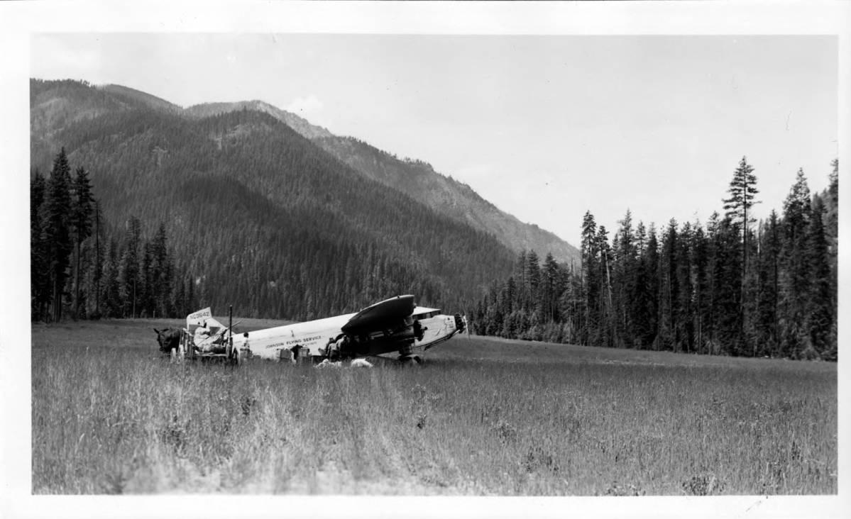 item thumbnail for Plane at Moose Creek Ranger Station air field