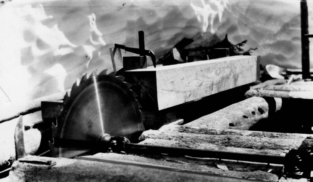 item thumbnail for Sawing lumber with water power at Elk Summit Ranger Station