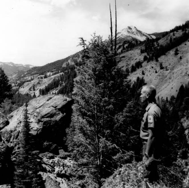 item thumbnail for Ranger Owen looks over Loon Creek Drainage