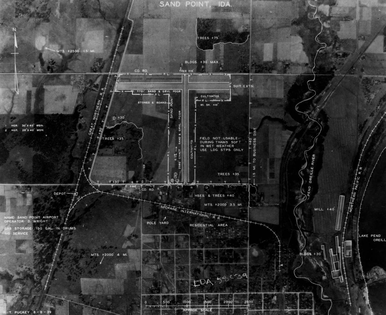 item thumbnail for Aerial survey of Sandpoint Airport