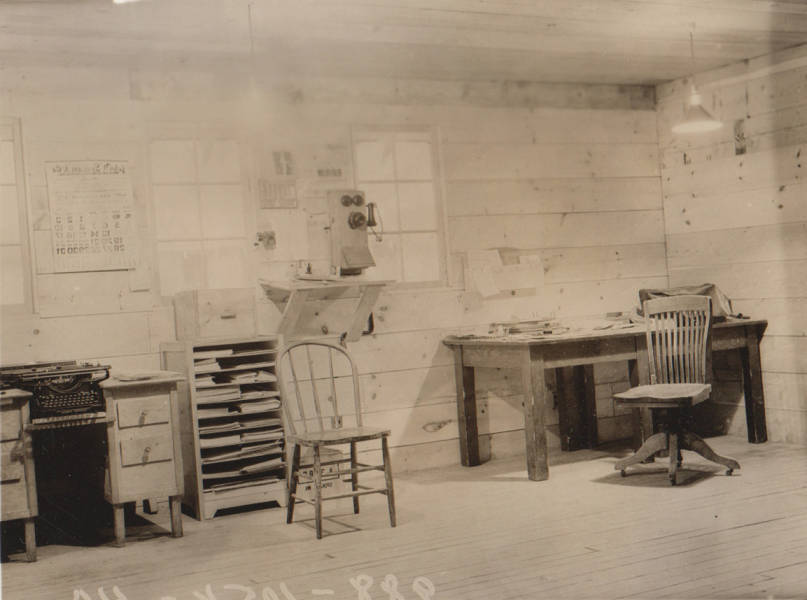 item thumbnail for Wallace Flood Camp, office