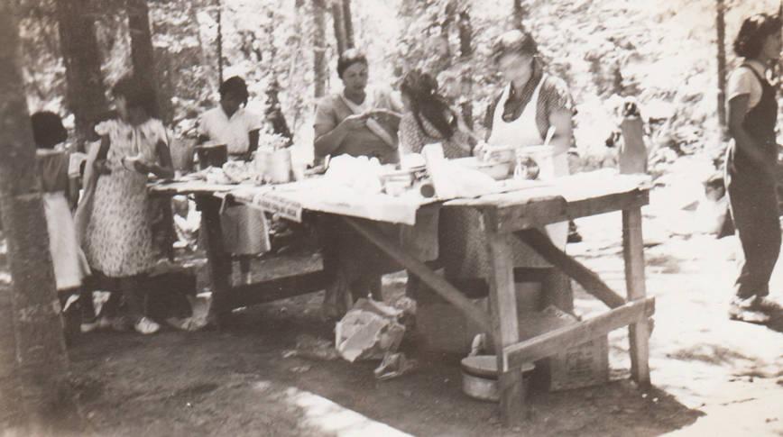 item thumbnail for Picnic table at Community Garden celebration