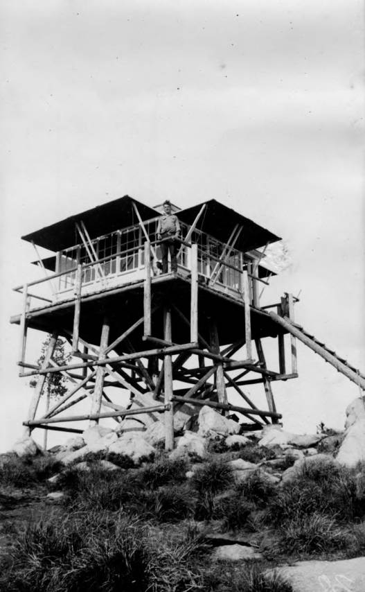 item thumbnail for Unknown fire lookout, man on deck