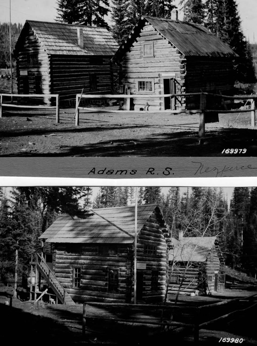 item thumbnail for Adams Ranger Station, Log Buildings